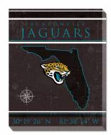 "Jacksonville Jaguars 16"""" x 20"""" Coordinates Canvas Print"