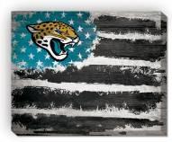 "Jacksonville Jaguars 16"""" x 20"""" Flag Canvas Print"