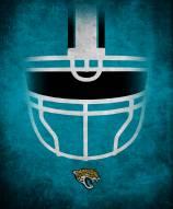 """Jacksonville Jaguars 16"""""""" x 20"""""""" Ghost Helmet Canvas Print"""