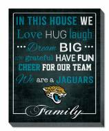 """Jacksonville Jaguars 16"""""""" x 20"""""""" In This House Canvas Print"""