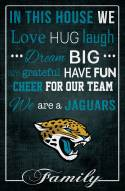 """Jacksonville Jaguars 17"""""""" x 26"""""""" In This House Sign"""