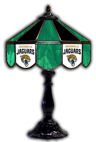 "Jacksonville Jaguars 21"" Glass Table Lamp"
