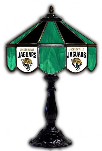 "Jacksonville Jaguars 21"" Glass Table Lamp"