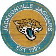 "Jacksonville Jaguars 24"""" Heritage Logo Round Sign"