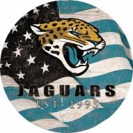 """Jacksonville Jaguars 24"""""""" Team Color Flag Circle Sign"""
