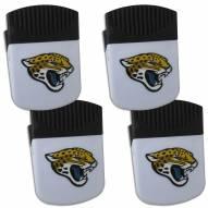 Jacksonville Jaguars 4 Pack Chip Clip Magnet with Bottle Opener