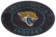 """Jacksonville Jaguars 46"""""""" Heritage Logo Oval Sign"""