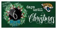 "Jacksonville Jaguars 6"""" x 12"""" Chalk Christmas Countdown Sign"