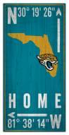 "Jacksonville Jaguars 6"""" x 12"""" Coordinates Sign"