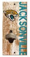 "Jacksonville Jaguars 6"""" x 12"""" Distressed Bottle Opener"