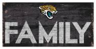 "Jacksonville Jaguars 6"""" x 12"""" Family Sign"