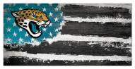 """Jacksonville Jaguars 6"""""""" x 12"""""""" Flag Sign"""