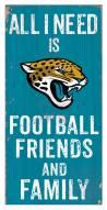 "Jacksonville Jaguars 6"""" x 12"""" Friends & Family Sign"