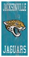 """Jacksonville Jaguars 6"""""""" x 12"""""""" Heritage Logo Sign"""
