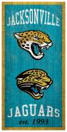 "Jacksonville Jaguars 6"""" x 12"""" Heritage Sign"