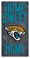 "Jacksonville Jaguars 6"""" x 12"""" Home Sweet Home Sign"