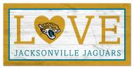 "Jacksonville Jaguars 6"" x 12"" Love Sign"