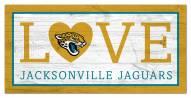 "Jacksonville Jaguars 6"" x 12"" Love Sign"