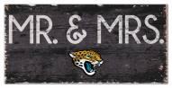 "Jacksonville Jaguars 6"""" x 12"""" Mr. & Mrs. Sign"