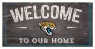 "Jacksonville Jaguars 6"" x 12"" Welcome Sign"