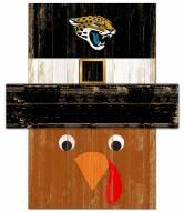 """Jacksonville Jaguars 6"""""""" x 5"""""""" Turkey Head"""