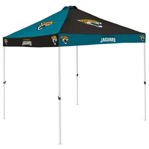 Jacksonville Jaguars 9' x 9' Checkerboard Tailgate Canopy Tent