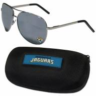 Jacksonville Jaguars Aviator Sunglasses and Zippered Carrying Case