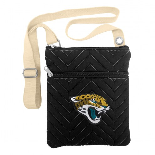 Jacksonville Jaguars Chevron Stitch Crossbody Bag