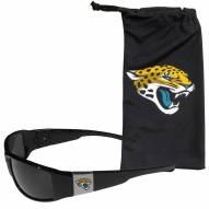 Jacksonville Jaguars Chrome Wrap Sunglasses & Bag