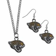 Jacksonville Jaguars Dangle Earrings & Chain Necklace Set