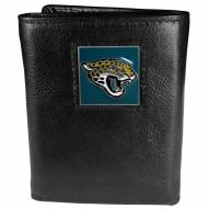 Jacksonville Jaguars Deluxe Leather Tri-fold Wallet in Gift Box