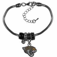 Jacksonville Jaguars Euro Bead Bracelet