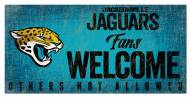 Jacksonville Jaguars Fans Welcome Sign