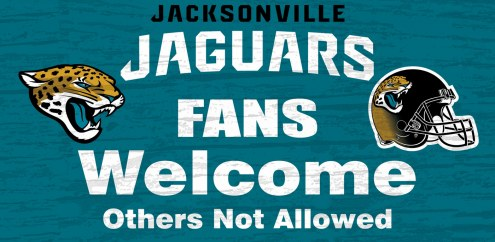 Jacksonville Jaguars Fans Welcome Wood Sign