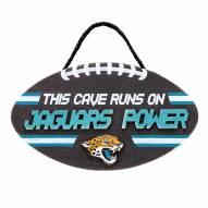 Jacksonville Jaguars Football Power Wood Sign