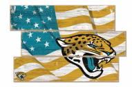 Jacksonville Jaguars Flag 3 Plank Sign