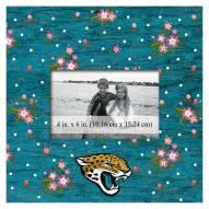 """Jacksonville Jaguars Floral 10"""""""" x 10"""""""" Picture Frame"""