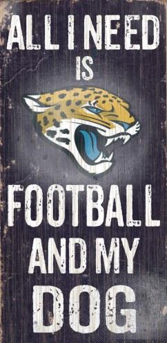 Jacksonville Jaguars Football & Dog Wood Sign