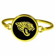 Jacksonville Jaguars Gold Tone Bangle Bracelet