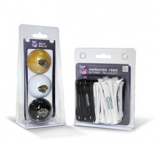 Jacksonville Jaguars Golf Ball & Tee Pack
