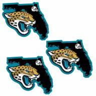 Jacksonville Jaguars Home State Decal - 3 Pack