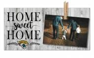 Jacksonville Jaguars Home Sweet Home Clothespin Frame