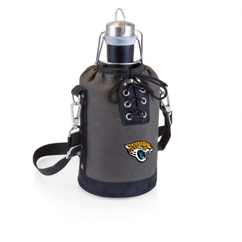 Jacksonville Jaguars Insulated Growler Tote with 64 oz. Stainless Steel Growler