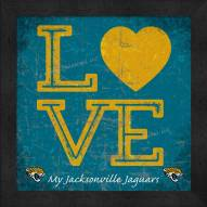 Jacksonville Jaguars Love My Team Color Wall Decor