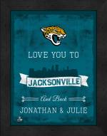 Jacksonville Jaguars Love You to and Back Framed Print