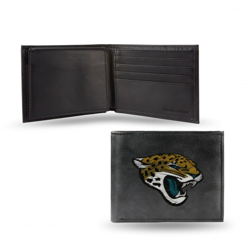 Jacksonville Jaguars NFL Embroidered Leather Billfold Wallet