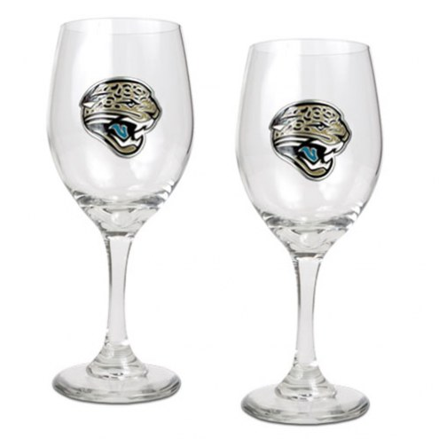 Jacksonville Jaguars NFL Wine Glass - Set of 2
