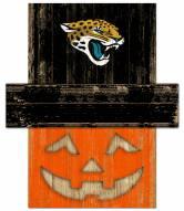 Jacksonville Jaguars Pumpkin Head Sign