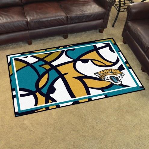 Jacksonville Jaguars Quicksnap 4' x 6' Area Rug