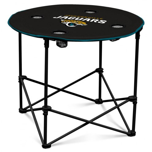 Jacksonville Jaguars Round Folding Table